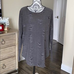 H&M Distressed Tunic Size L